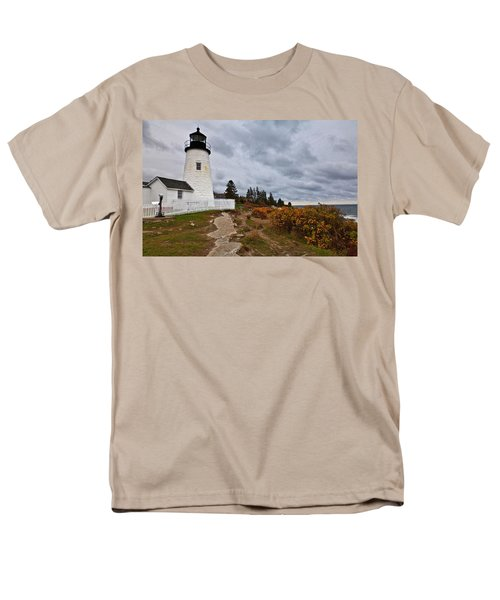 Stormy Autumn Day At Pemaquid Point Lighthouse Men's T-Shirt  (Regular Fit)