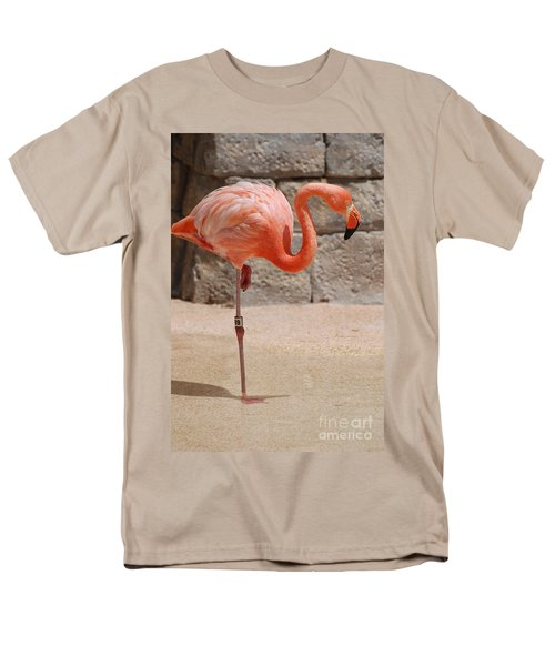 Perfect Pink Flamingo Men's T-Shirt  (Regular Fit) by DejaVu Designs