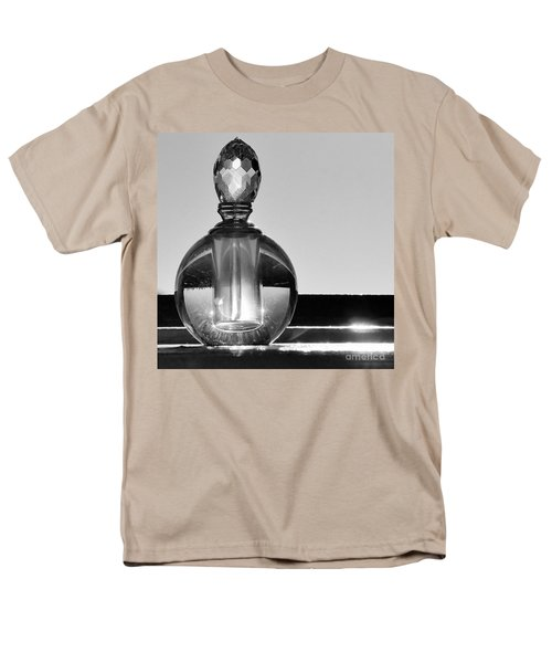 Men's T-Shirt  (Regular Fit) featuring the photograph Perfume Bottle Inversion by Lilliana Mendez