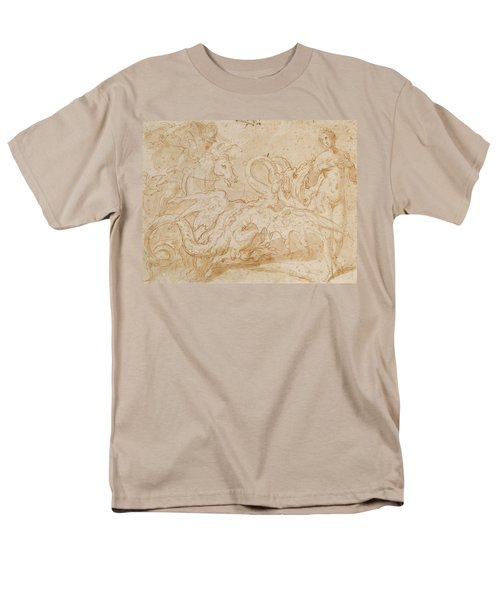 Perseus Rescuing Andromeda Red Chalk On Paper Men's T-Shirt  (Regular Fit) by or Zuccaro, Federico Zuccari