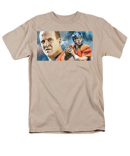 Peyton Manning Artwork Men's T-Shirt  (Regular Fit) by Sheraz A