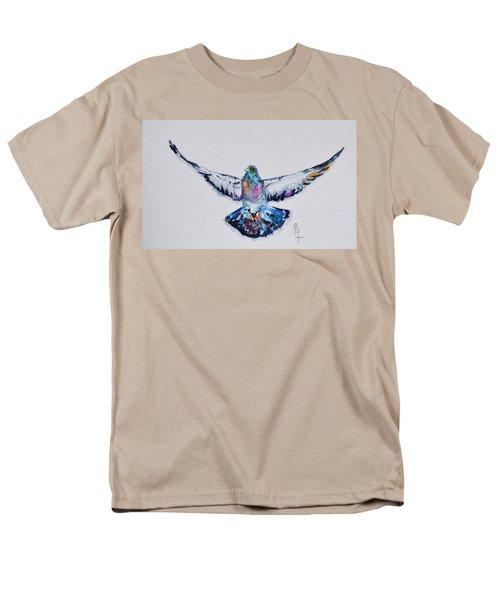 Pigeon In Flight Men's T-Shirt  (Regular Fit) by Beverley Harper Tinsley