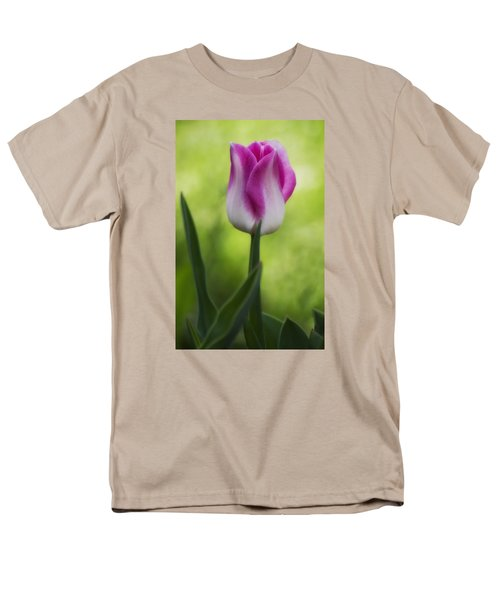 Pink And White Tulip Men's T-Shirt  (Regular Fit) by Shelly Gunderson