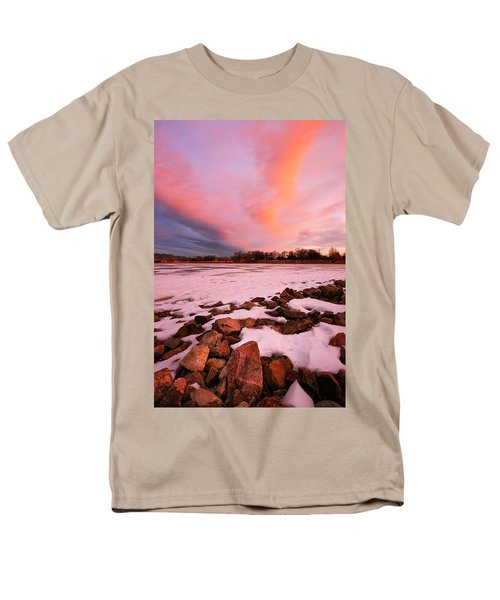 Pink Clouds Over Memorial Park Men's T-Shirt  (Regular Fit) by Ronda Kimbrow