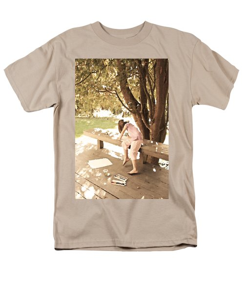 Men's T-Shirt  (Regular Fit) featuring the photograph Pink Painter by Brooke T Ryan