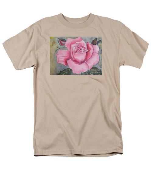 Pink Rose Men's T-Shirt  (Regular Fit) by Pamela  Meredith