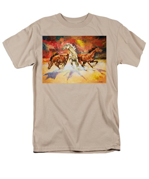 Men's T-Shirt  (Regular Fit) featuring the painting Plains Thunder by Al Brown