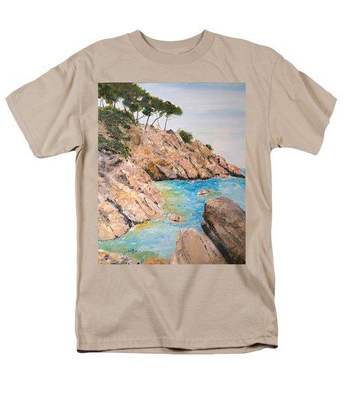 Men's T-Shirt  (Regular Fit) featuring the painting Playa De Aro by Marilyn Zalatan