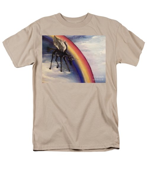Playing With Rainbow Men's T-Shirt  (Regular Fit) by Karen  Ferrand Carroll