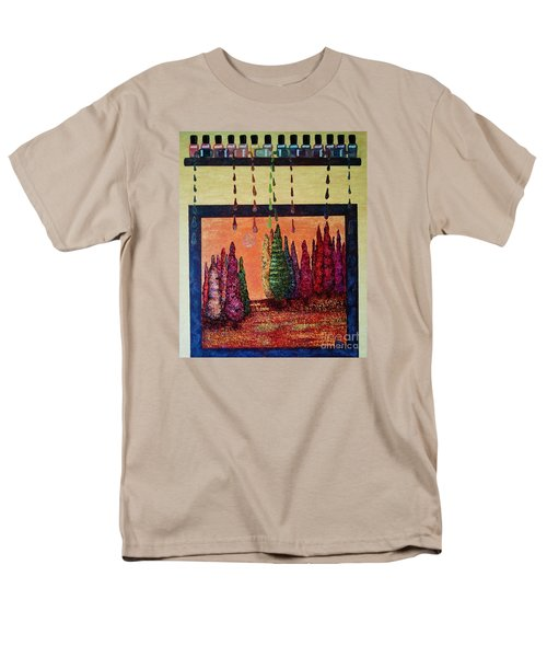 Men's T-Shirt  (Regular Fit) featuring the painting Polished Forest by Jasna Gopic