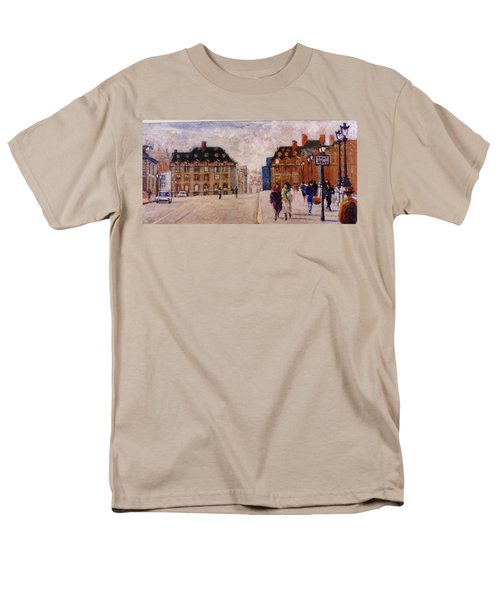 Men's T-Shirt  (Regular Fit) featuring the painting Pont Neuf by Walter Casaravilla