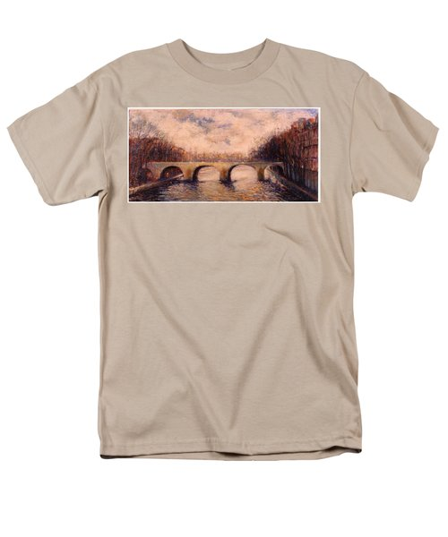 Men's T-Shirt  (Regular Fit) featuring the painting Pont Sur La Seine by Walter Casaravilla