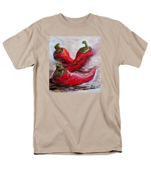 Poppin' Peppers Men's T-Shirt  (Regular Fit) by Eloise Schneider