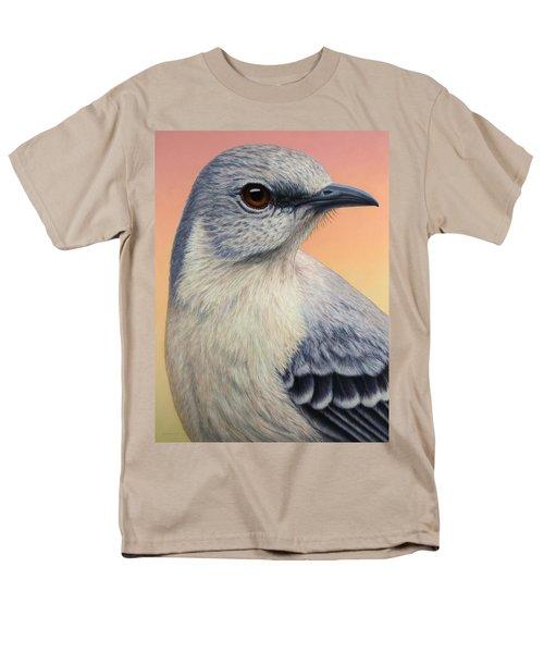 Portrait Of A Mockingbird Men's T-Shirt  (Regular Fit) by James W Johnson