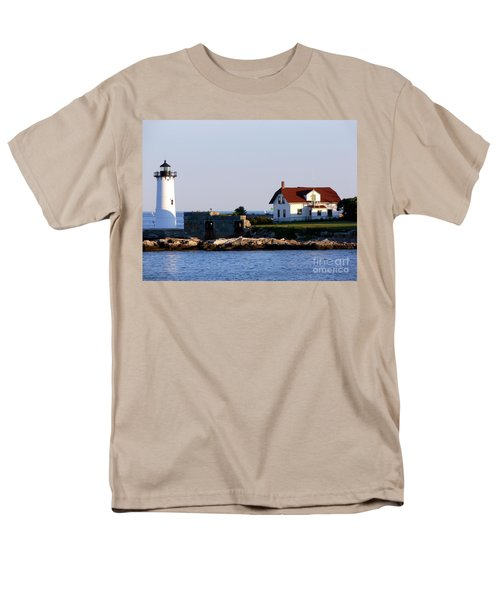 Portsmouth Harbor Light Men's T-Shirt  (Regular Fit) by Kevin Fortier