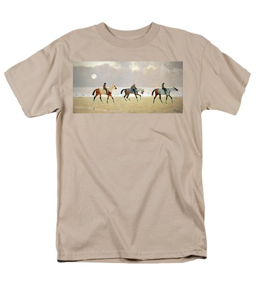 Princeteau's Riders On The Beach At Dieppe Men's T-Shirt  (Regular Fit) by Cora Wandel