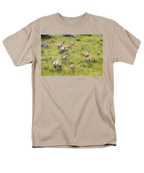 Men's T-Shirt  (Regular Fit) featuring the photograph Pronghorn Antelope In Lamar Valley by Belinda Greb