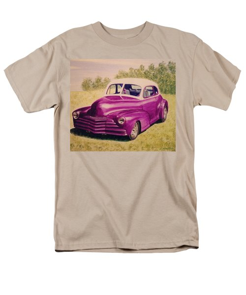 Men's T-Shirt  (Regular Fit) featuring the painting Purple Chevrolet by Stacy C Bottoms