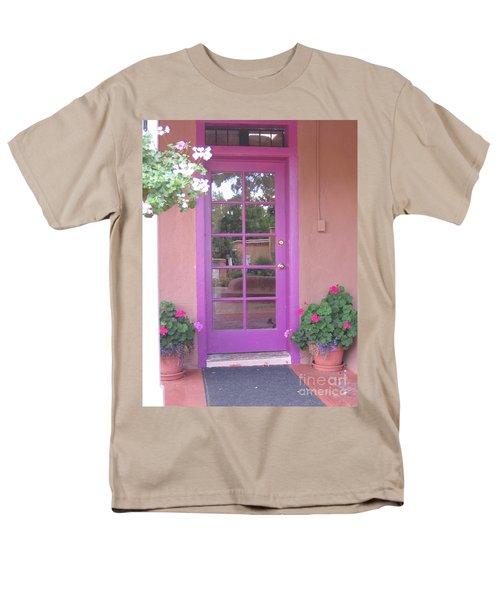 Men's T-Shirt  (Regular Fit) featuring the photograph Purple Door by Dora Sofia Caputo Photographic Art and Design