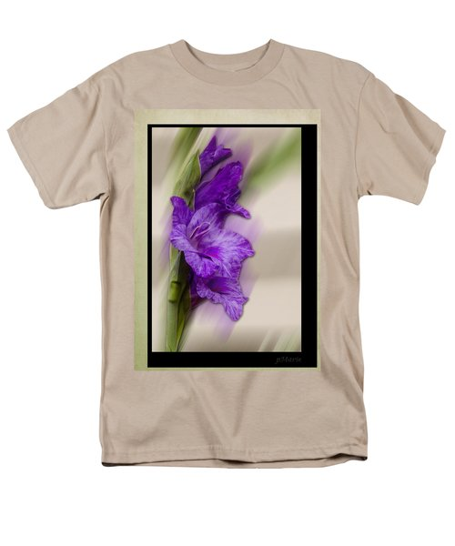 Men's T-Shirt  (Regular Fit) featuring the photograph Purple Gladiolus by Patti Deters