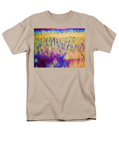 Purple Tan Stone Abstract Men's T-Shirt  (Regular Fit) by Eric  Schiabor
