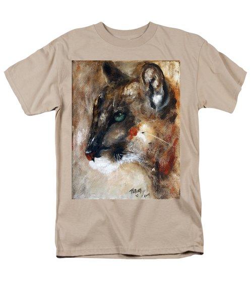 Men's T-Shirt  (Regular Fit) featuring the painting Quiet Thunder Seeker by Barbie Batson