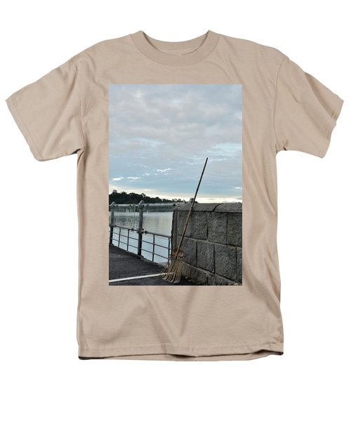 Men's T-Shirt  (Regular Fit) featuring the photograph Rake Rests Itself After A Hard Days Work by Imran Ahmed