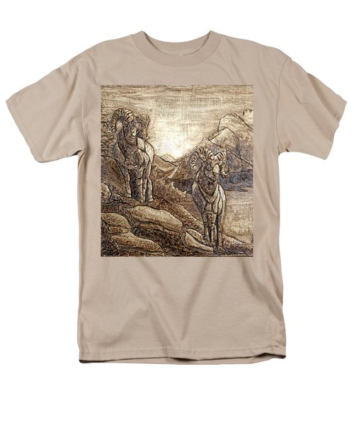 Men's T-Shirt  (Regular Fit) featuring the relief Rams Relief by Wendy McKennon