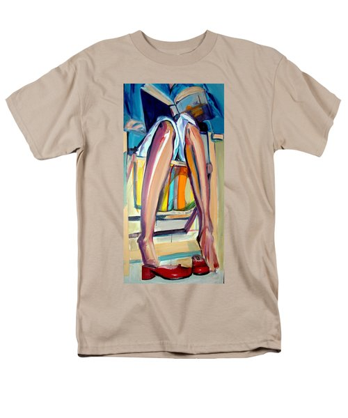 Men's T-Shirt  (Regular Fit) featuring the painting Read On by Ecinja Art Works
