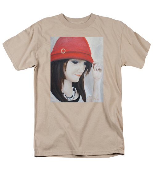 Rebecca's Red Hat Men's T-Shirt  (Regular Fit) by Patricia Olson