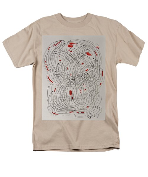 Red Fan Men's T-Shirt  (Regular Fit) by Mary Carol Williams
