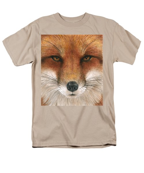 Red Fox Gaze Men's T-Shirt  (Regular Fit) by Pat Erickson