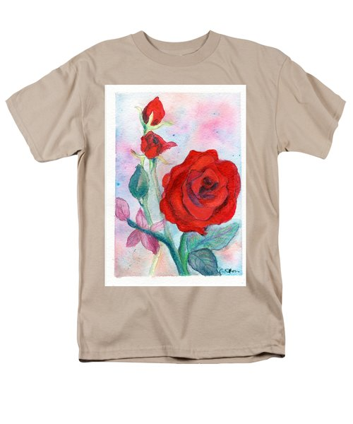Red Roses Men's T-Shirt  (Regular Fit) by C Sitton