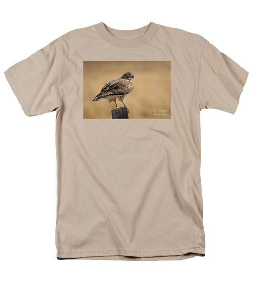 Men's T-Shirt  (Regular Fit) featuring the photograph Red Tailed Hawk Watching by Janis Knight