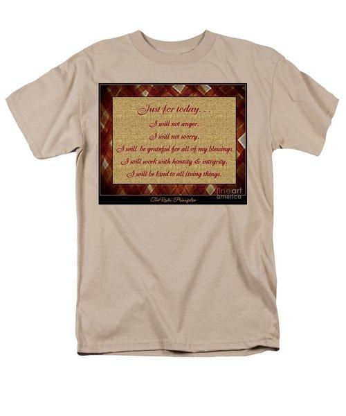 Reiki Principles Men's T-Shirt  (Regular Fit) by Bobbee Rickard