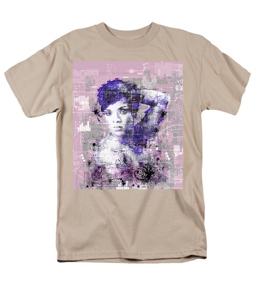 Rihanna 3 Men's T-Shirt  (Regular Fit) by Bekim Art