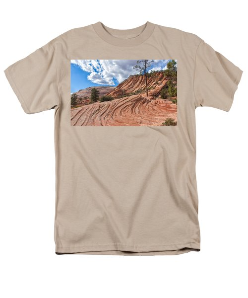 Men's T-Shirt  (Regular Fit) featuring the photograph Rippled Rock At Zion National Park by John M Bailey