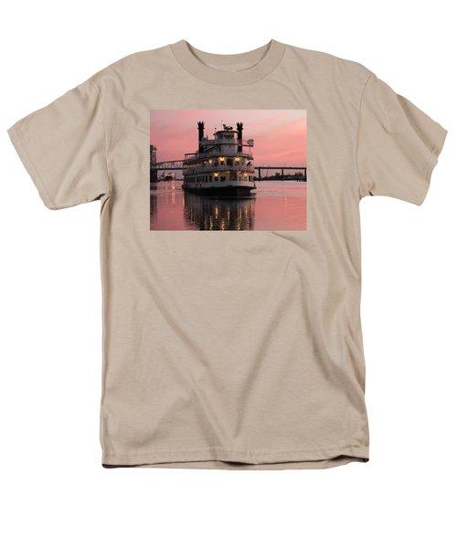 Riverboat At Sunset Men's T-Shirt  (Regular Fit)