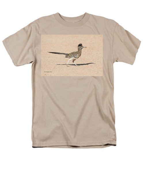 Men's T-Shirt  (Regular Fit) featuring the photograph Road Runner On The Road by Tom Janca