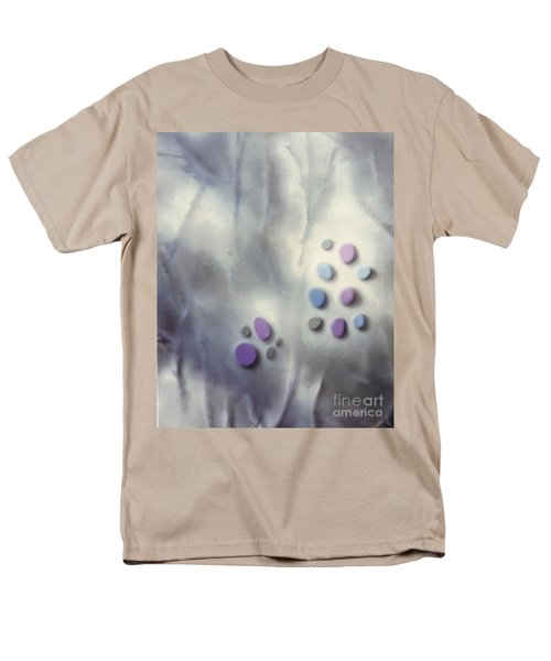 Rock Painting Lavender And Gray With Twigs Men's T-Shirt  (Regular Fit)