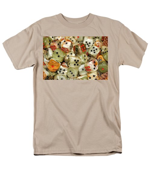 Men's T-Shirt  (Regular Fit) featuring the photograph Roll The Dice by Jean Goodwin Brooks