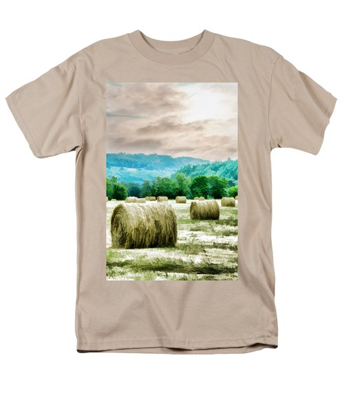 Rolled Bales Men's T-Shirt  (Regular Fit) by Mick Anderson