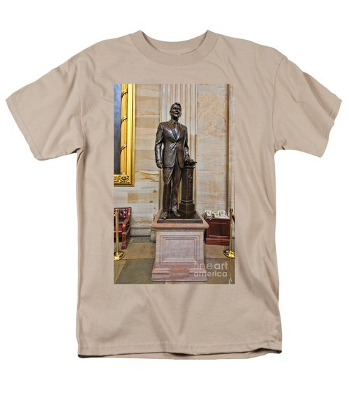 Ronald Regan -  U S Capitol Statuary Hall Men's T-Shirt  (Regular Fit) by Allen Beatty