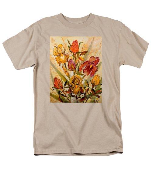 Roses And Irises Men's T-Shirt  (Regular Fit) by Lou Ann Bagnall