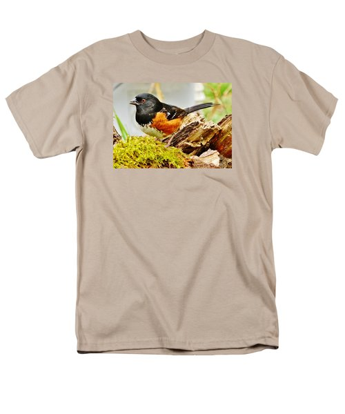 Spotted Towhee Men's T-Shirt  (Regular Fit) by VLee Watson