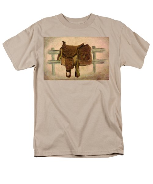 Saddle Up Men's T-Shirt  (Regular Fit) by Christy Saunders Church