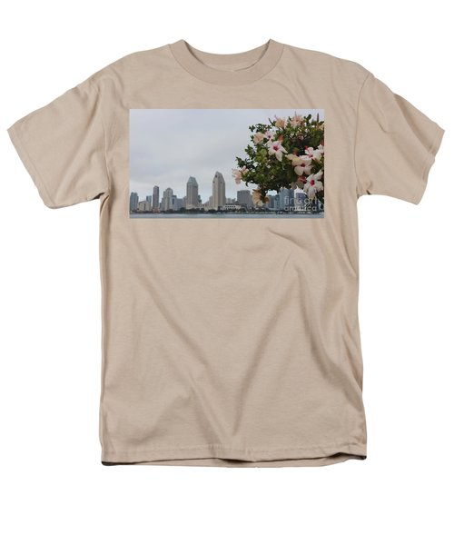 Men's T-Shirt  (Regular Fit) featuring the photograph San Diego From Coronado View by Jasna Gopic