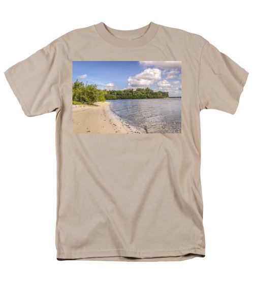 Men's T-Shirt  (Regular Fit) featuring the photograph Sandy Beach by Jane Luxton