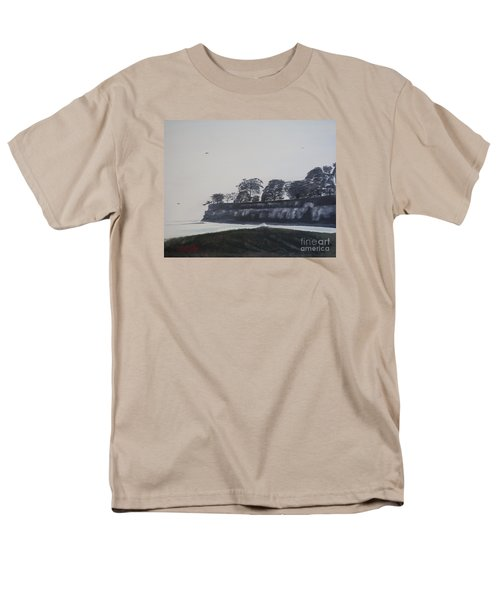 Men's T-Shirt  (Regular Fit) featuring the painting Santa Barbara Shoreline Park by Ian Donley