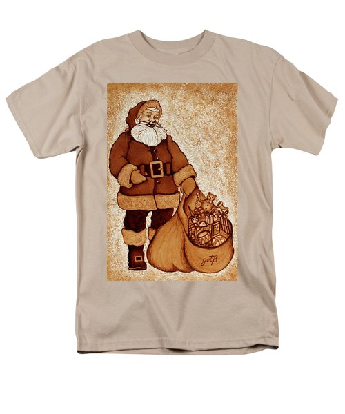 Men's T-Shirt  (Regular Fit) featuring the painting Santa Claus Bag by Georgeta  Blanaru